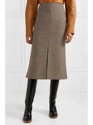 Victoria Beckham checked wool midi skirt