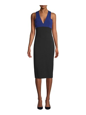 Victoria Beckham Colorblock Sleeveless Sheath Dress