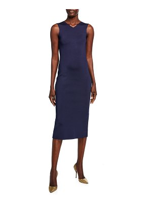 Victoria Beckham Colorblocked-Back Jersey Bodycon Dress