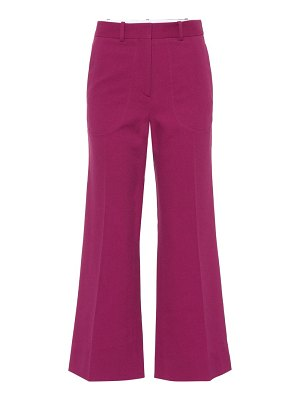 Victoria Beckham cotton-blend wide-leg pants