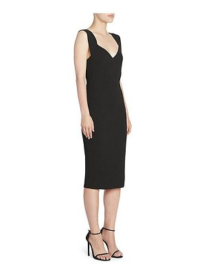 Victoria Beckham crepe decollete fitted sheath