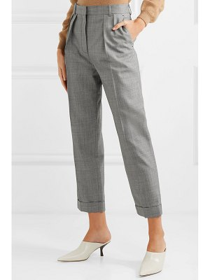 Victoria Beckham cropped pleated wool-twill slim-leg pants