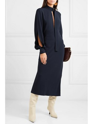 Victoria Beckham cutout crepe midi dress