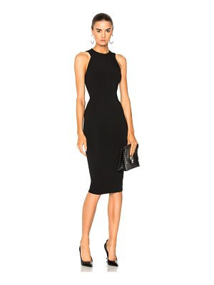 Victoria Beckham Dense Rib Jersey Cut Out Back Fitted Dress