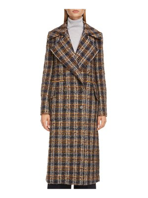 Victoria Beckham double breasted summer weight tweed coat