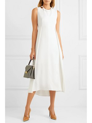 Victoria Beckham embellished pleated stretch-cady midi dress