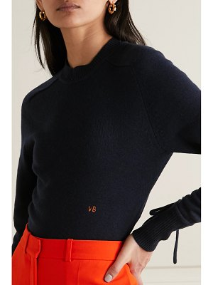 Victoria Beckham embroidered cashmere-blend sweater