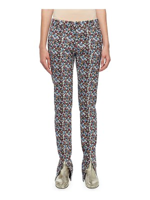 Victoria Beckham Floral-Print Skinny Trousers