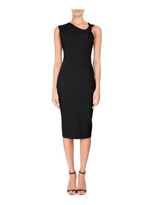 Victoria Beckham Knotted Sleeveless Sheath Dress