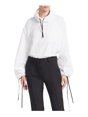 Victoria Beckham long sleeve drawstring hooded top