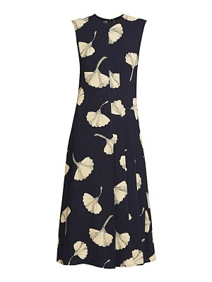 Victoria Beckham paneled floral flare dress