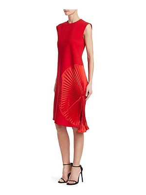 Victoria Beckham pleat panel shift dress