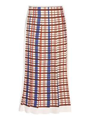 Victoria Beckham Printed pleated midi skirt