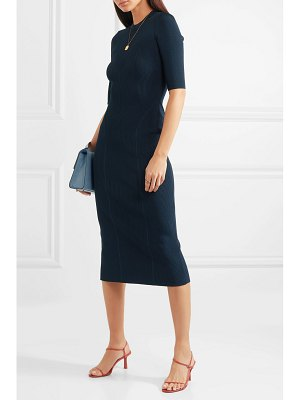 Victoria Beckham ribbed stretch-knit midi dress