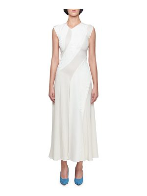 Victoria Beckham Sleeveless Asymmetric Jacquard Dress