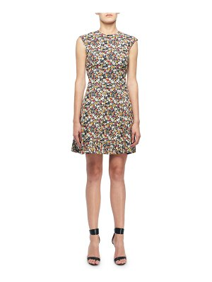 Victoria Beckham Sleeveless Mini floral-Print Fit & Flare Dress