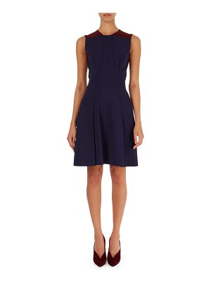 Victoria Beckham Sleeveless Pleated Bicolor Dress