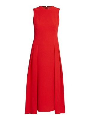 Victoria Beckham sleeveless pleated flare dress