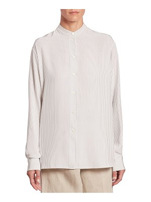 Victoria Beckham Striped Button Front Shirt