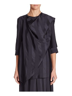 Victoria Beckham Three-Quarter Sleeve Wrap Top