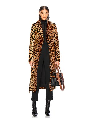 Victoria Beckham Tiger Chenille Jacquard Split Sleeve Fitted Coat