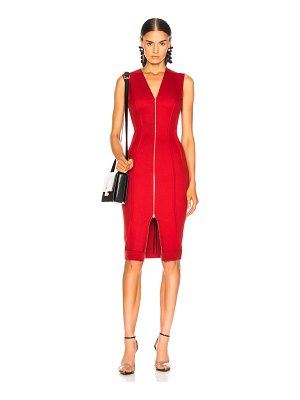 Victoria Beckham V-Neck Fitted Dress