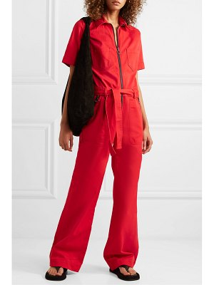 Victoria by Victoria Beckham belted cotton-drill jumpsuit
