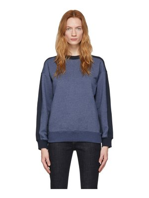 Victoria by Victoria Beckham blue and navy logo tape sweatshirt