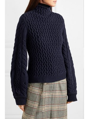 Victoria by Victoria Beckham cable-knit turtleneck sweater