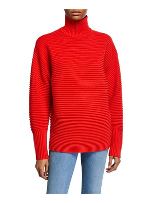Victoria by Victoria Beckham Curved-Sleeve Turtleneck Sweater