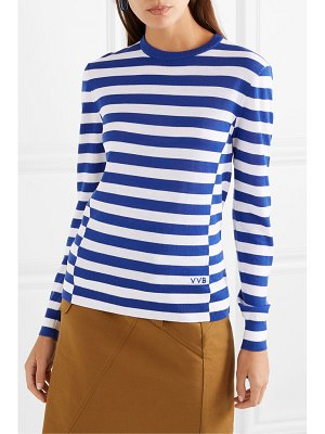 Victoria by Victoria Beckham embroidered striped wool sweater