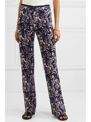 Victoria by Victoria Beckham flocked canvas flared pants