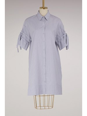 Victoria by Victoria Beckham Gathered Sleeve Shirt Dress
