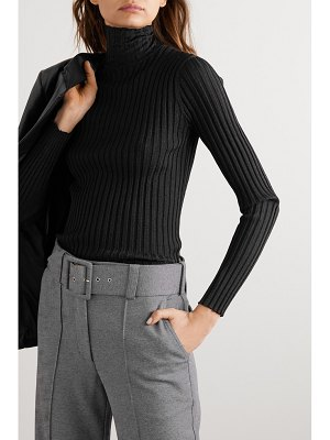 Victoria by Victoria Beckham glittered ribbed-knit turtleneck sweater