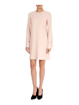 Victoria by Victoria Beckham Jewel-Neck Bell-Sleeve Crepe Shift Dress