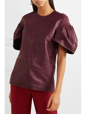 Victoria by Victoria Beckham leather top