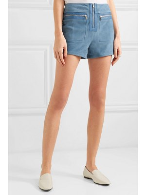 Victoria by Victoria Beckham leather-trimmed suede shorts