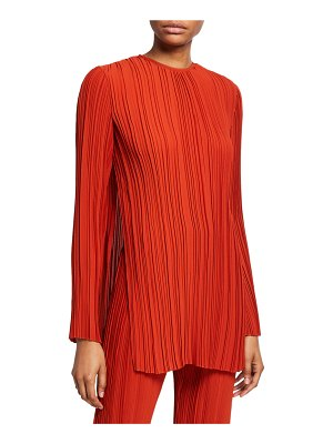 Victoria by Victoria Beckham Long-Sleeve Pleated Top