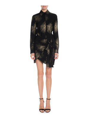 Victoria by Victoria Beckham Long-Sleeve Shimmer Firework-Embroidered Shirt