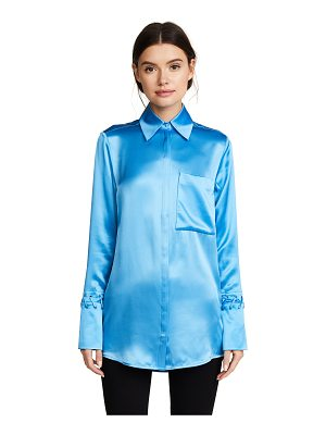 Victoria by Victoria Beckham one pocket fluid shirt