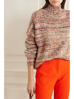 Victoria by Victoria Beckham oversized mélange knitted turtleneck sweater