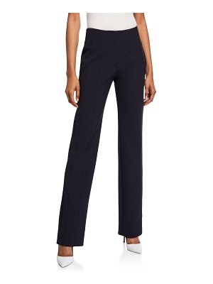 Victoria by Victoria Beckham Paneled Straight-Leg Trousers