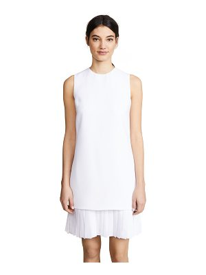 Victoria by Victoria Beckham pleat hem shift dress