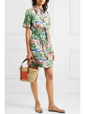 Victoria by Victoria Beckham pocket printed cotton-blend mini dress