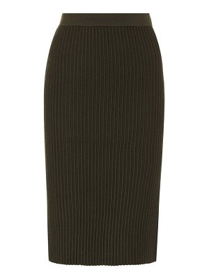 Victoria by Victoria Beckham ribbed-knit wool skirt