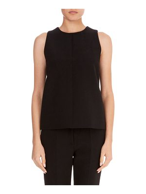 Victoria by Victoria Beckham Round-Neck Sleeveless A-Line Wool Crepe Top