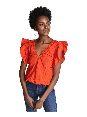 Victoria by Victoria Beckham ruffle sleeve top