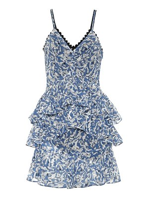 Victoria by Victoria Beckham ruffled printed minidress