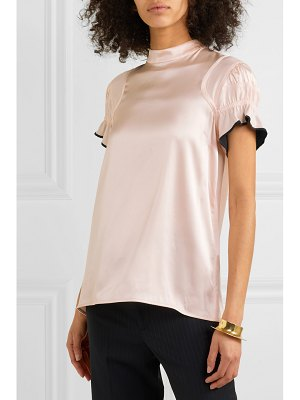 Victoria by Victoria Beckham ruffled stretch-satin top