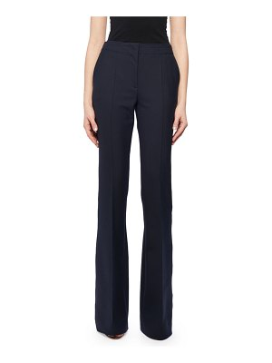 Victoria by Victoria Beckham Seam Front Wool-Blend Boot-Cut Pants